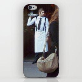 Waiter at the Door, Paris iPhone Skin