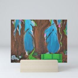 Fairy, Fairies. Abstract. Original Painting. Forest. Fantasy Forest. Fantasy. Jodilynpaintings. Mini Art Print