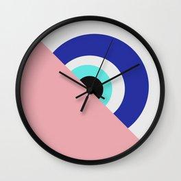 Devil eye pink hide Wall Clock
