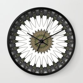 Mandala of everyday love with hearts and Cupid arrows Wall Clock