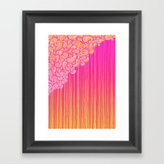 The Unraveling of Paisley Lace (in ombre pink and gold) Framed Art Print