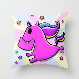 Fab-yoo-lous Unicorn! Throw Pillow