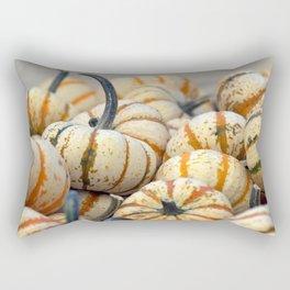 White & Orange Gourds Rectangular Pillow