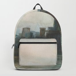 2019 Watercolor New York City Series 002 Watercolor Painting Backpack