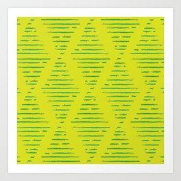 Yellow Xmas Art Print