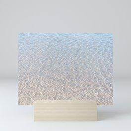 Crystal Clear Sea Near a Sandbox Ocean, Dutch Coast Mini Art Print