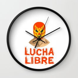 Lucha libre, Mexican Wrestling, Luchador Mask Wall Clock
