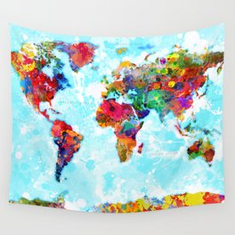 World Map - 2 Wall Tapestry