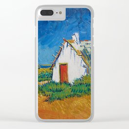 Van Gogh - Three white cottages in Saintes-Maries Clear iPhone Case