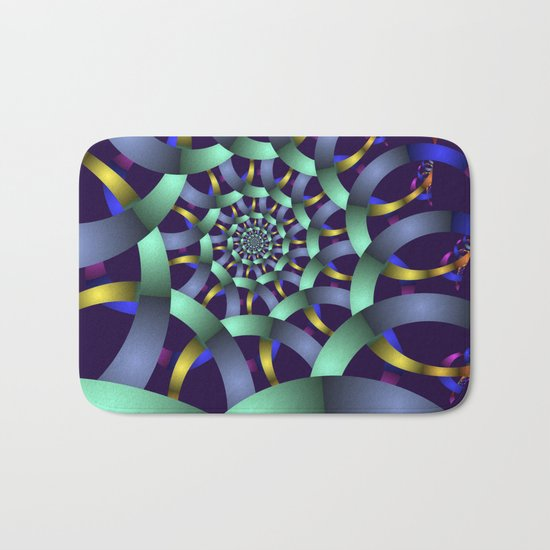 The turquoise spiral Bath Mat