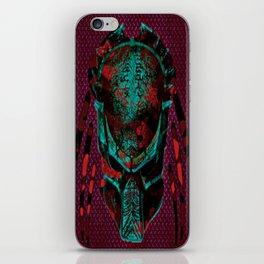 Soldier Predator Red Teal iPhone Skin