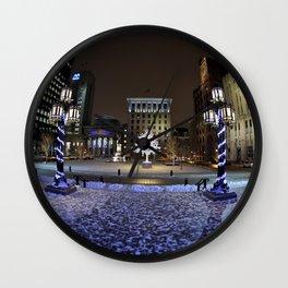 The Perfect City Winter Scene Wall Clock
