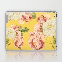 Flora temptation - sunny mustard Laptop & iPad Skin