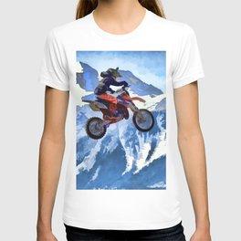 Mountain View - Dirt-bike Racer T-shirt