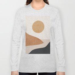 Minimal Abstract Art Landscape 9 Long Sleeve T-shirt