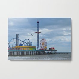 Pleasure Pier - Galveston Texas Metal Print