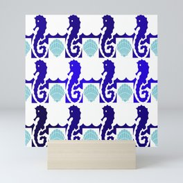 Seahorses & Shells 1 Mini Art Print