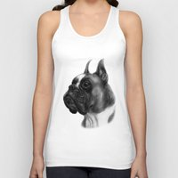 boxer Tank Tops featuring Boxer  by Danguole Serstinskaja