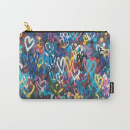 Love Hearts Abstract Graffiti Street Art Carry-All Pouch