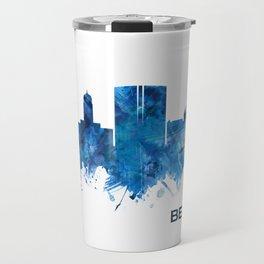 Beaumont Texas Skyline Blue Travel Mug