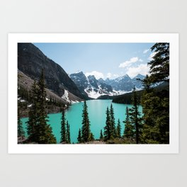 Moraine Lake Landscape Photography Art Print