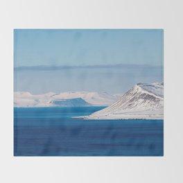 Svalbard Norway Polar Arctic Landscape Throw Blanket