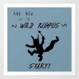 Wild Rumpus (Blue) Art Print