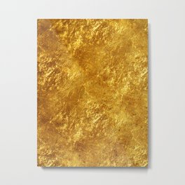 Gold Flake Metal Print