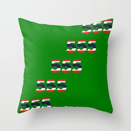 555  Thai flag Throw Pillow