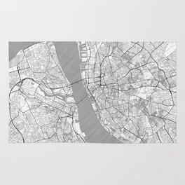 Liverpool Map Line Rug