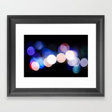 bokeh 2 Framed Art Print