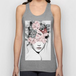 WOMAN WITH FLOWERS 10 Unisex Tanktop