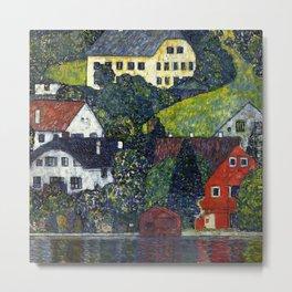 "Gustav Klimt ""Houses In Unterach On The Attersee"" Metal Print"