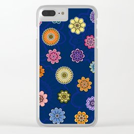 Fantasy Flowers Clear iPhone Case