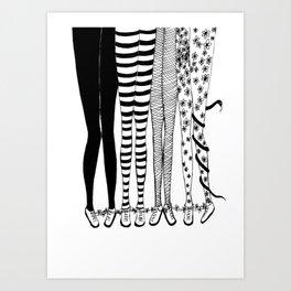 social connections Art Print