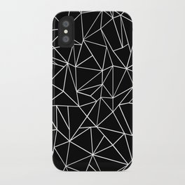 Abstraction Outline Black and White iPhone Case