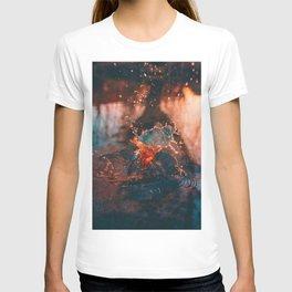 Sunset Splash Puddle (Color) T-shirt