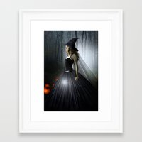 witch Framed Art Prints featuring Witch by Julie Hoddinott