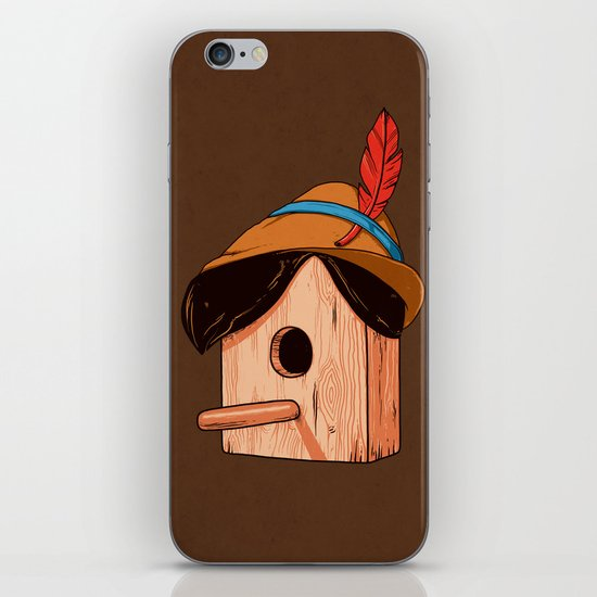 Woodpecker´s house iPhone & iPod Skin