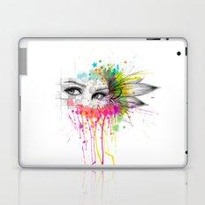 Beautiful Flower Eyes Laptop & iPad Skin