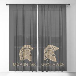 Molon lave-Spartan Warrior Sheer Curtain