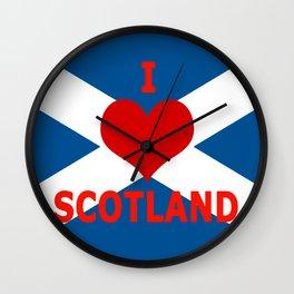 Scotland Flag Saltire Wall Clock