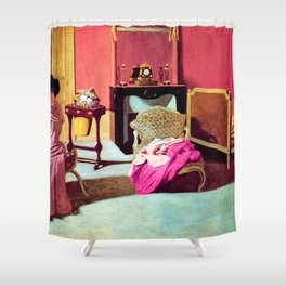 Felix Vallotton -  Woman being capped (new color editing) Shower Curtain
