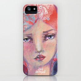 Folie by Jane Davenport ( with logo) iPhone Case