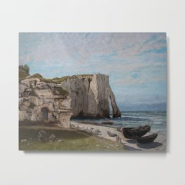 The Etretat Cliffs after the Storm - Gustave Courbet Metal Print
