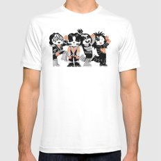 KISS!!!!! Mens Fitted Tee SMALL White