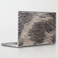 calligraphy Laptop & iPad Skins featuring it's waving calligraphy by Anna Grunduls