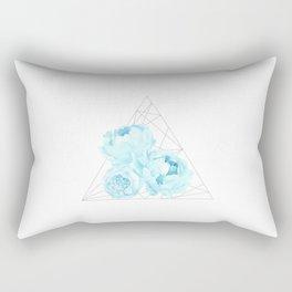 Blue Peonies (White) Rectangular Pillow