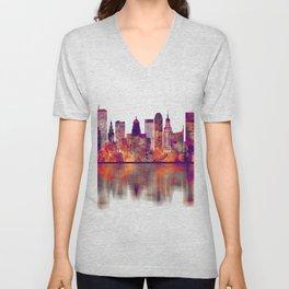 Buffalo New York Skyline Unisex V-Neck