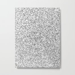 Tiny Spots - White and Gray Metal Print
